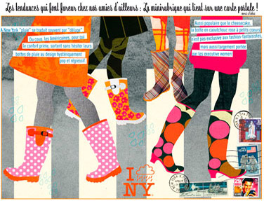 olga-olga illustrations carte postale New York