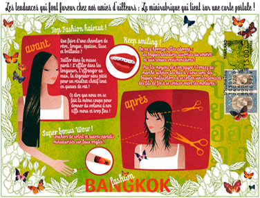 olga-olga illustrations carte postale Bangkok