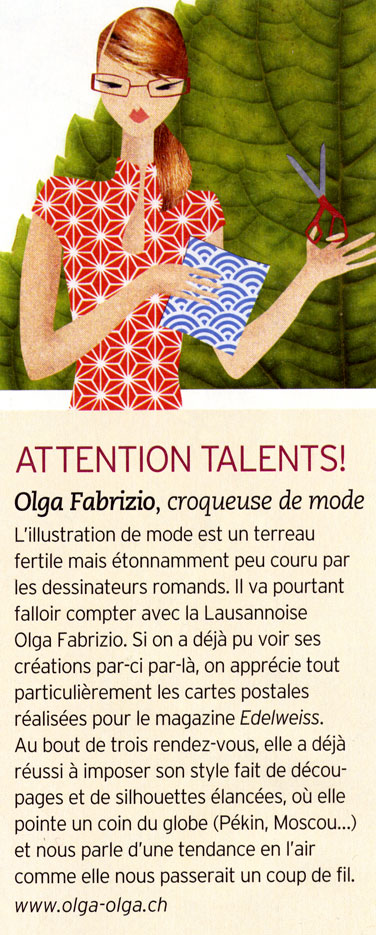 olga-olga illustrations carte postale Article Femina