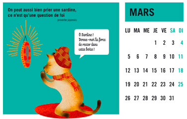 olga-olga illustrations calendrier courrier mars