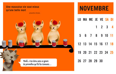 olga-olga illustrations calendrier courrier novembre