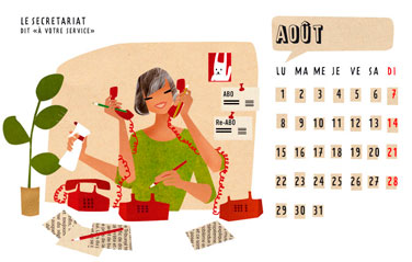 olga-olga illustrations calendrier 2 courrier aout